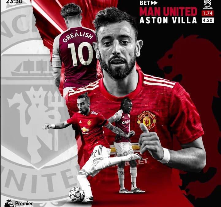 پیش بینی منچستر یونایتد - استون ویلا لیگ برتر در سایت بت فوروارد
